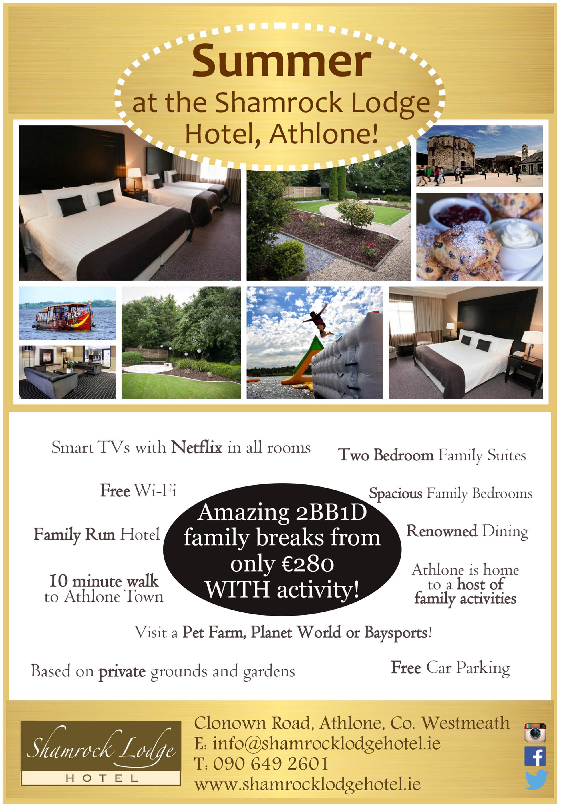 Shamrock Lodge Hotel | Summer Family Breaks | YourDaysOut