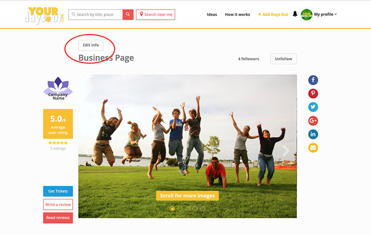 Update Premium Page | YourDaysOut Support