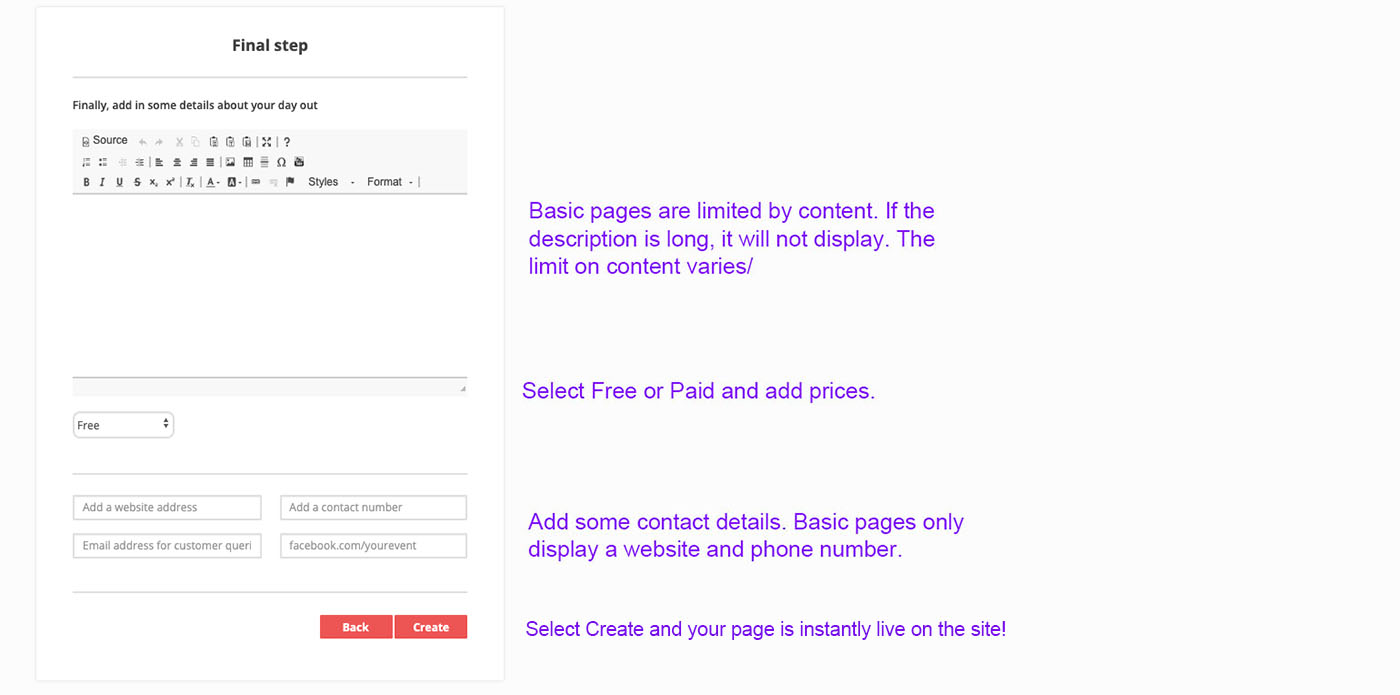Publish a page | Step One