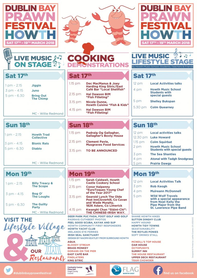 Dublin Bay Prawn Festival Programme 2018 | Things to do in Dublin