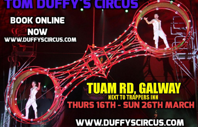 Things to do in County Galway, Ireland - Tom Duffy's Circus Galway City - YourDaysOut