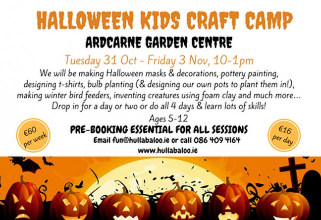 Things to do in County Roscommon, Ireland - Hullabaloo Halloween Kids Craft Camp - YourDaysOut